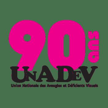 Unadev Logo 90ans
